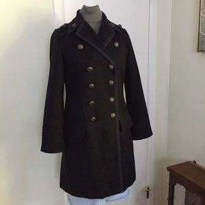 Military Wool Blend Coat